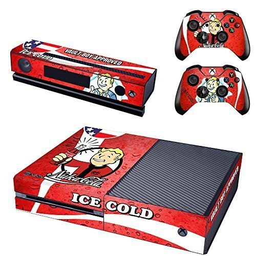 Brand New Vinyl Decals Fallout 4 Skin Sticker for Xbox One Game Console and 2 Controllers Skins Cover of ICE COLD Vault Boy Approved Designed - Geek Decor