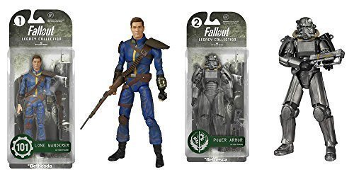 Fallout Lone Wanderer and Power Armor Legacy Collection Action Figures Set of 2 - Geek Decor