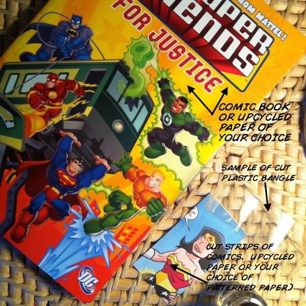Comic Book Bracelets Supplies - Geek Decor