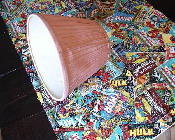 DIY Comic Book Lamp - Step One - Geek Decor