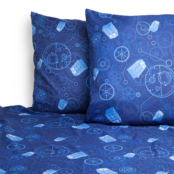 Doctor Who Bedsheets Neatly Displayed - Geek Decor
