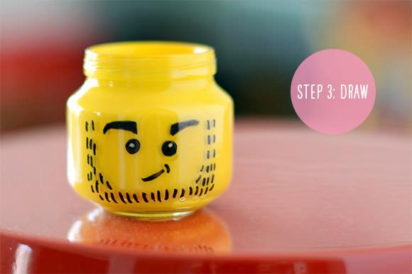Lego Pencil Holder Step Two - Geek Decor