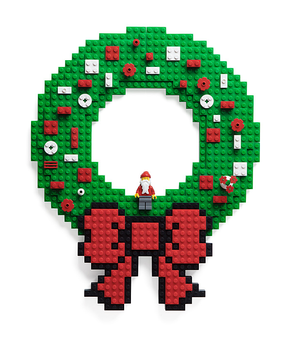 Lego Wreath - Geek Decor