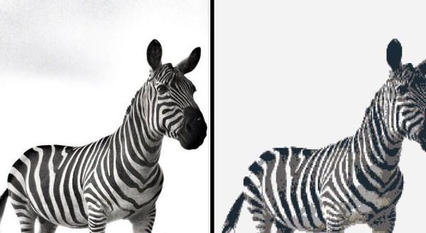 Legolizer Wall Art Zebra Example - Geek Decor