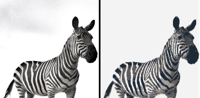 Fabulous Legolizer Wall Art Zebra Example Geek Decor