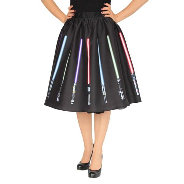 Lightsaber Circle Skirt - Geek Decor