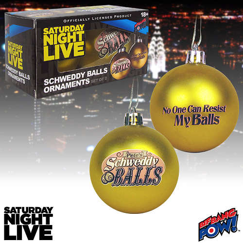 Schweddy Balls Ornaments - Geek Decor