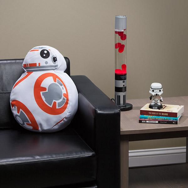 BB-8 Throw Pillow Displayed - Geek Decor