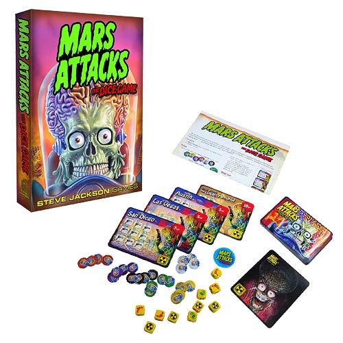 Mars Attacks Dice Game - Geek Decor