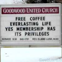 Free coffee, everlasting life. Yes membership has it privileges.