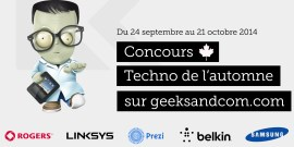 Concours Techno Automne 2014 - Geeks and Com