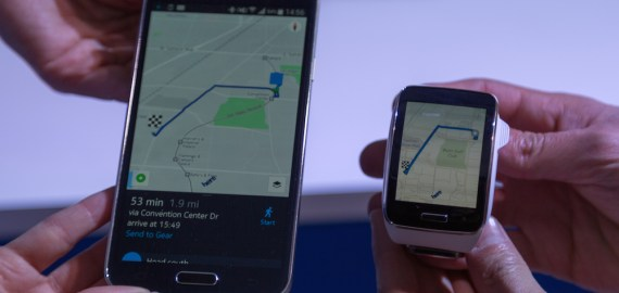 CES 2015 - Nokia Here - Android - Samsung Gear S-3