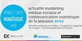 Rendez-Vous Numerique 56 - Podcast Medias Sociaux - 21 mai 2015