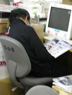 Japanese Worker taking a Inemuri Nap