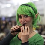 Saria  (Ocarina of Time) Playing the Ocarina (New York Comic Con 2011)