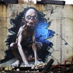 3d-gollum-graffiti