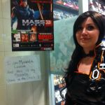 Miranda cosplayer at Winnipeg Gamestop