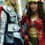 Lady Thor and Iron Woman - SDCC 2012 - Aggressive Comix