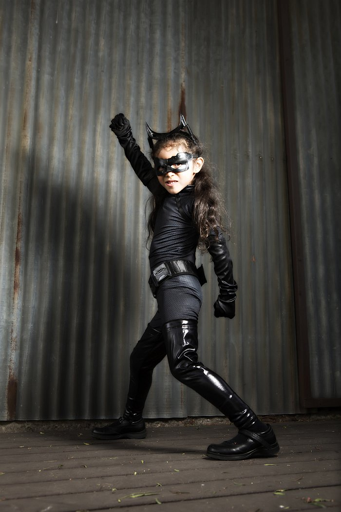 Bryan's daughter as Catwoman