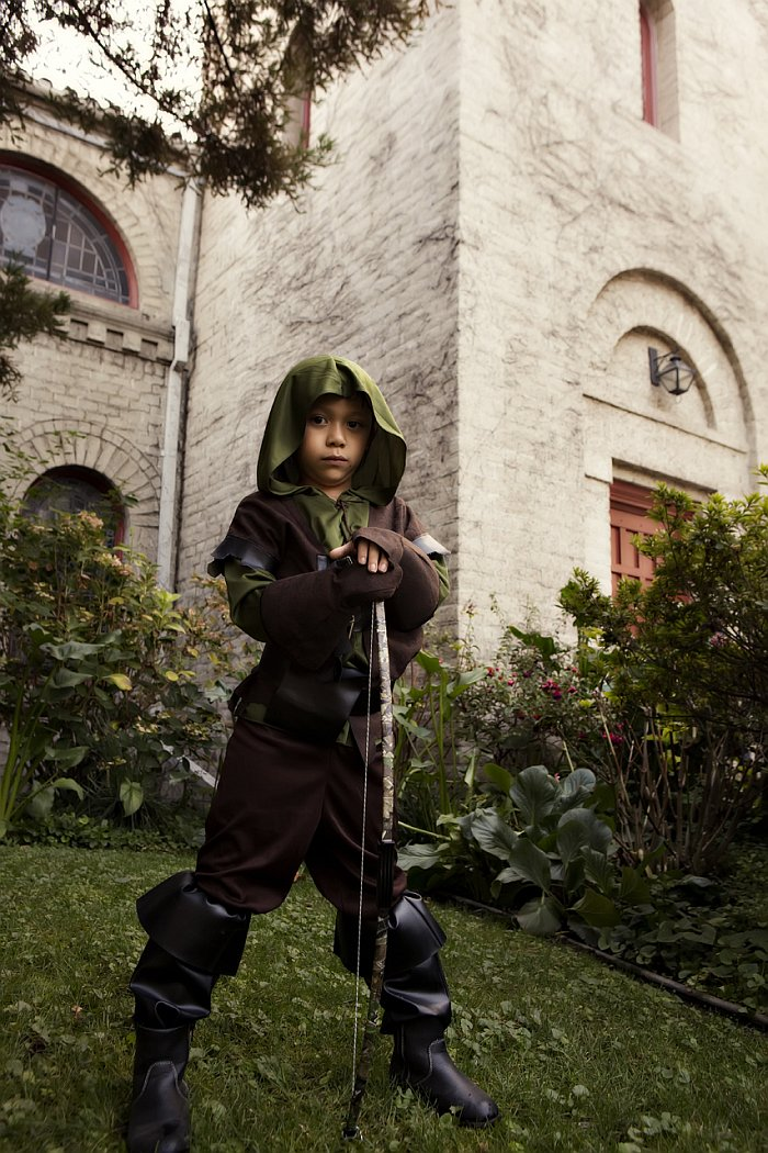 Bryan's son as Robin Hood