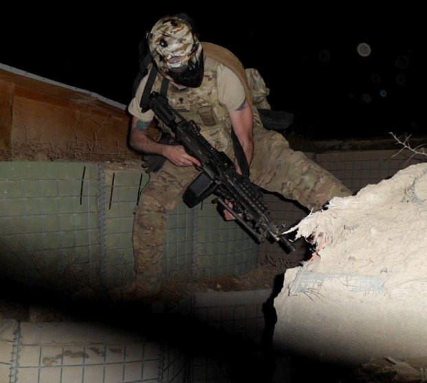Michael G. (Stationed in Afghanistan) with an Army of Two Mask