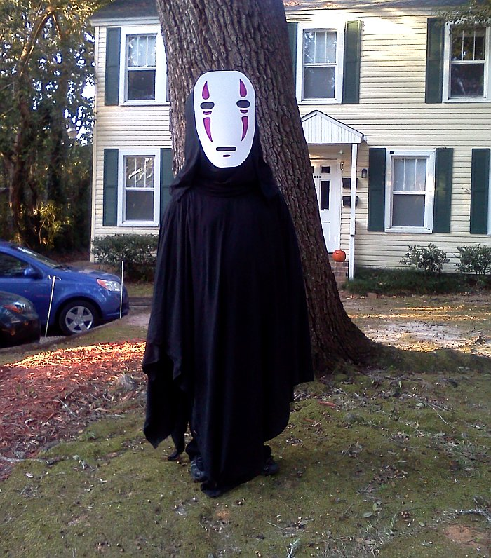 Sarah's Husband as No-Face from Spirited Away