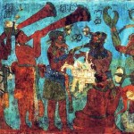 From the Bonampak Mural. Image via Wikipedia, public domain.