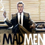 Mad Men Comic Style Drapper