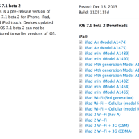 Apple Released iOS 7.1 beta 2 download for Developers