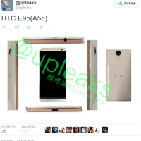 New images with the HTC One E9, spotted online!