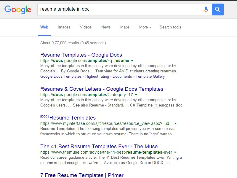 resumes for google how to find resumes on the internet with