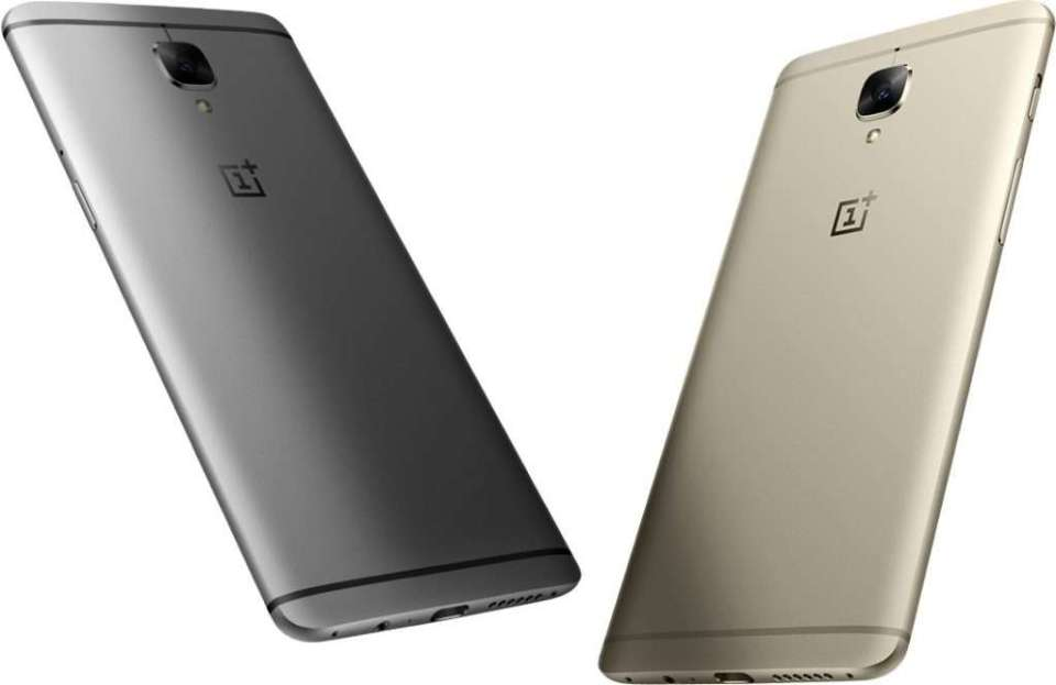 OnePlus 3 Colors Gold and Grey