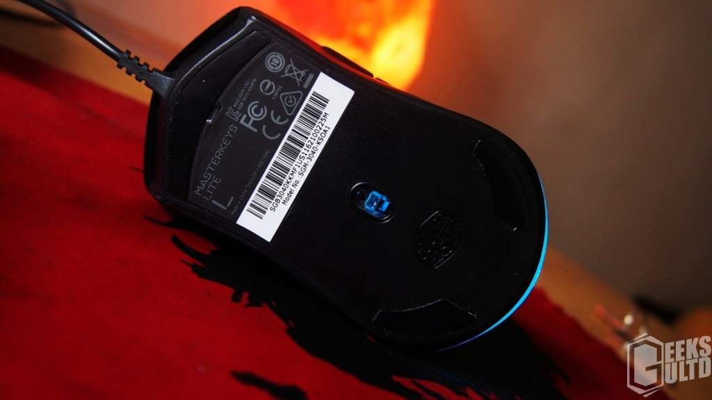 Bottom And Sensor View Of The Cooler Master MasterKeys Lite L Combo Mouse