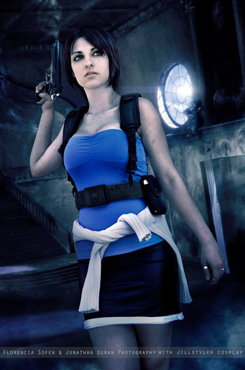 Smoking 3d Wallpaper Jill Valentine Resident Evil Cosplay