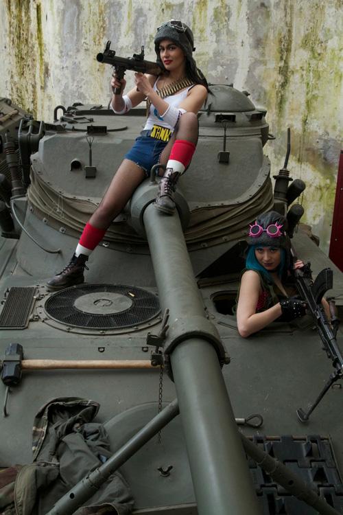 Wallpaper Geek Girl Tank Girl Amp Jet Girl Cosplay