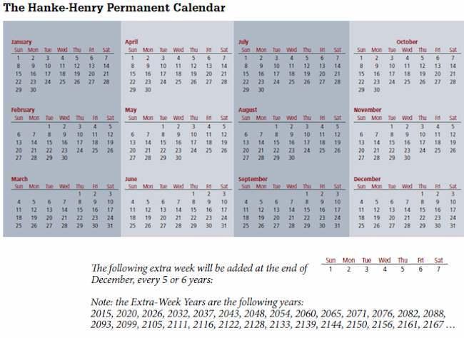 University Professors Create New Calendar, Want Predictable Year