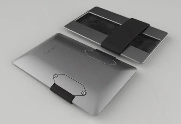 Micro Minimalist Wallet Constructed From Aluminium And Pvd