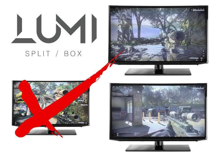 LUMI Split-box Lets You Play One Console On Multiple Screens (video - multi screen display