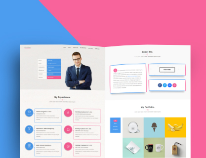 WebRes - Free One page Resume Wordpress theme - Geethemes - resume wordpress theme