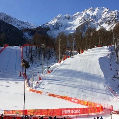"""Zielbereich """"Rosa Khutor"""" Alpine Center"""