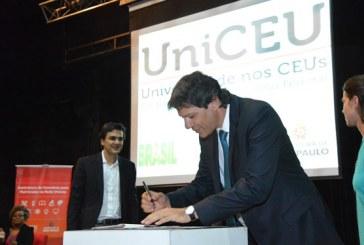 UniCEU, a faculdade da Prefeitura, firma convênio para abrir 3.810 novas vagas de Educação Superior