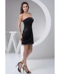 Sheath Strapless Short Satin Cocktail Dress #OP4914 $103.4 ...