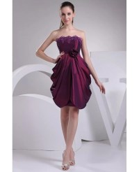 Strapless Ruffled Taffeta Purple Party Dress #OP4182 $116 ...