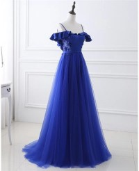 Long Tulle Prom Dress with Corset Open Back #LG0318 ...