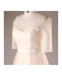 Plus Size Champagne Short Lace Off Shoulder Bridal Party ...