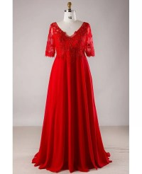 Plus Size Formal Dresses With Lace Sleeves - Eligent Prom ...
