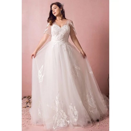 Medium Crop Of Cheap Plus Size Wedding Dresses