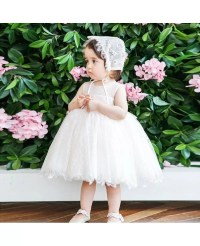 Ivory Lace Princess Flower Girl Dress Toddler Kids Pageant ...