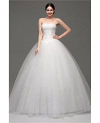 Cheap Simple Strapless Ballroom Bridal Gowns For Weddings ...