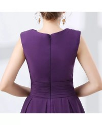 Cheap Purple Knee Length Prom Dress With Modest Lace ...